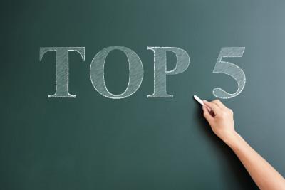 writing top 5 on blackboard