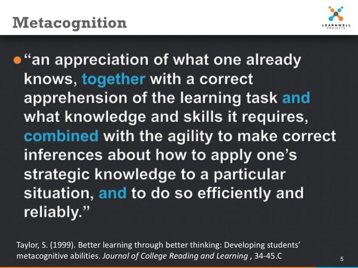 Metacognition Defined